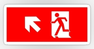 Running Man Exit Sign Sticker Decals 33