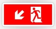 Running Man Exit Sign Sticker Decals 34