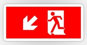 Running Man Exit Sign Sticker Decals 34