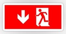 Running Man Exit Sign Sticker Decals 35