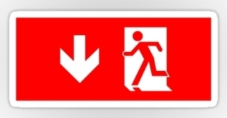 Running Man Exit Sign Sticker Decals 35