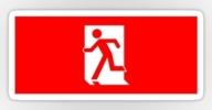 Running Man Exit Sign Sticker Decals 36