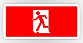 Running Man Exit Sign Sticker Decals 36