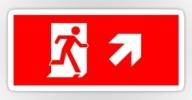 Running Man Exit Sign Sticker Decals 37