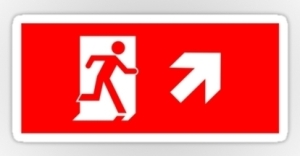 Running Man Exit Sign Sticker Decals 37