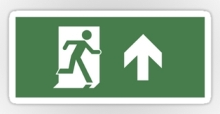 Running Man Exit Sign Sticker Decals 38