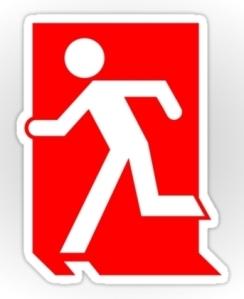 Running Man Exit Sign Sticker Decals 39