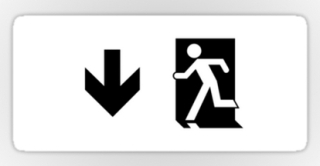 Running Man Exit Sign Sticker Decals 4