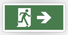 Running Man Exit Sign Sticker Decals 40