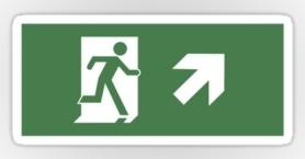 Running Man Exit Sign Sticker Decals 41