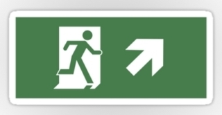 Running Man Exit Sign Sticker Decals 41