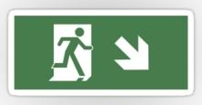 Running Man Exit Sign Sticker Decals 42