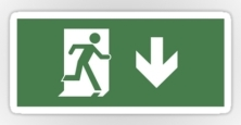 Running Man Exit Sign Sticker Decals 43