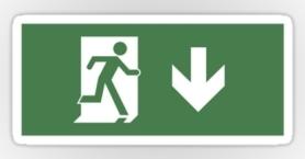 Running Man Exit Sign Sticker Decals 43