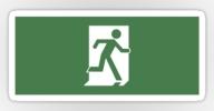 Running Man Exit Sign Sticker Decals 44
