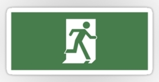 Running Man Exit Sign Sticker Decals 44