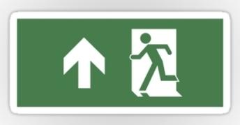 Running Man Exit Sign Sticker Decals 45