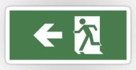 Running Man Exit Sign Sticker Decals 46