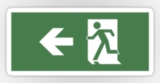 Running Man Exit Sign Sticker Decals 46