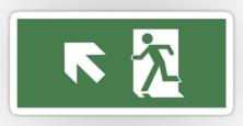 Running Man Exit Sign Sticker Decals 47