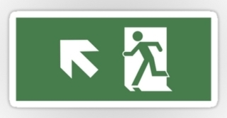 Running Man Exit Sign Sticker Decals 47