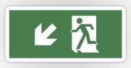 Running Man Exit Sign Sticker Decals 48