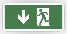 Running Man Exit Sign Sticker Decals 49
