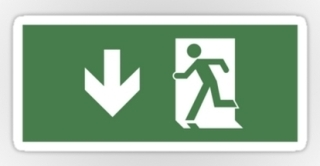Running Man Exit Sign Sticker Decals 49