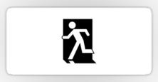 Running Man Exit Sign Sticker Decals 5
