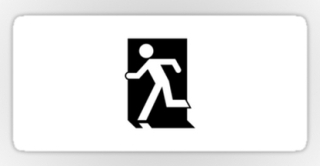 Running Man Exit Sign Sticker Decals 5