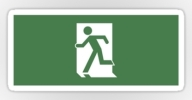 Running Man Exit Sign Sticker Decals 51