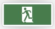 Running Man Exit Sign Sticker Decals 51