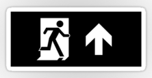 Running Man Exit Sign Sticker Decals 52