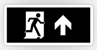Running Man Exit Sign Sticker Decals 52