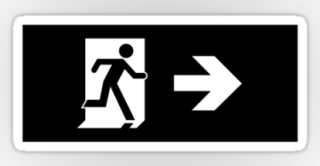 Running Man Exit Sign Sticker Decals 53