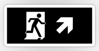 Running Man Exit Sign Sticker Decals 54