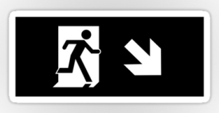 Running Man Exit Sign Sticker Decals 55