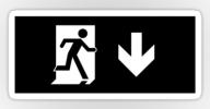 Running Man Exit Sign Sticker Decals 56
