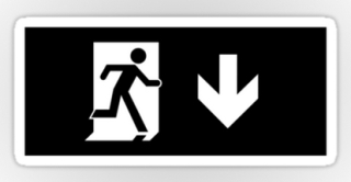 Running Man Exit Sign Sticker Decals 56