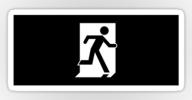 Running Man Exit Sign Sticker Decals 57
