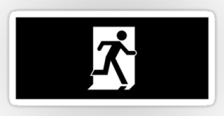 Running Man Exit Sign Sticker Decals 57
