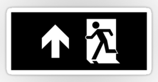 Running Man Exit Sign Sticker Decals 58