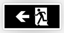 Running Man Exit Sign Sticker Decals 59