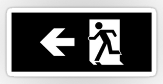 Running Man Exit Sign Sticker Decals 59