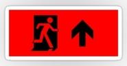 Running Man Exit Sign Sticker Decals 6