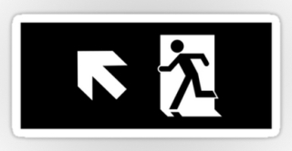 Running Man Exit Sign Sticker Decals 60