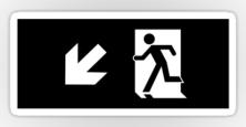 Running Man Exit Sign Sticker Decals 62