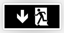Running Man Exit Sign Sticker Decals 63