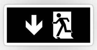 Running Man Exit Sign Sticker Decals 63