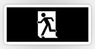 Running Man Exit Sign Sticker Decals 64